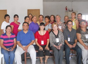 Promotora training group and trainers, August 2012