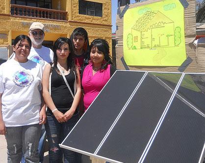 student created solar panels