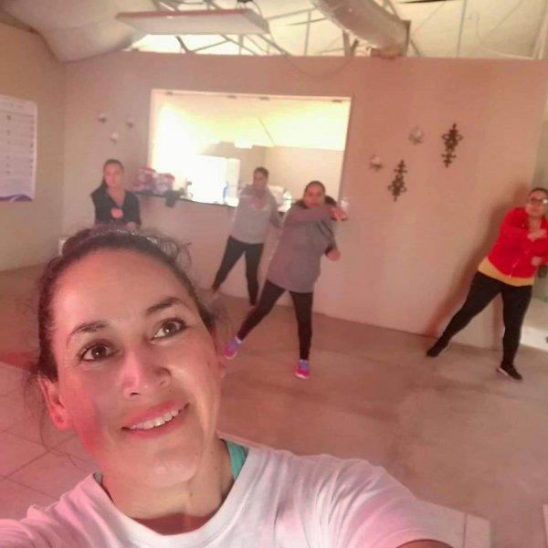 Zumba/exercise class.