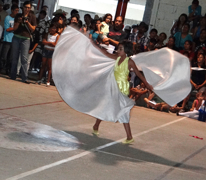 This dancer almost appeared to sprout wings as if to fly!